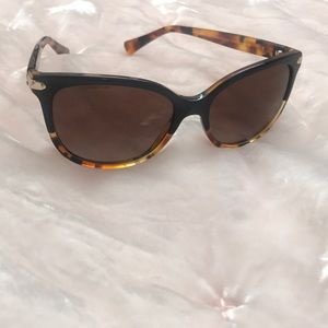 COACH polarized sunglasses black and tortoise